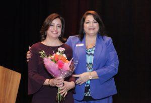 Keynote Speaker Connie de los Reyes and Executive Director Marie Felan